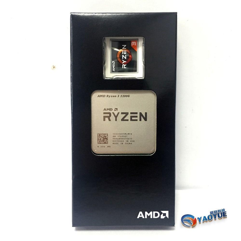 AMD Ryzen 3 2200G PC Computer Quad-Core prozessor AM4 Desktop Boxed CPU