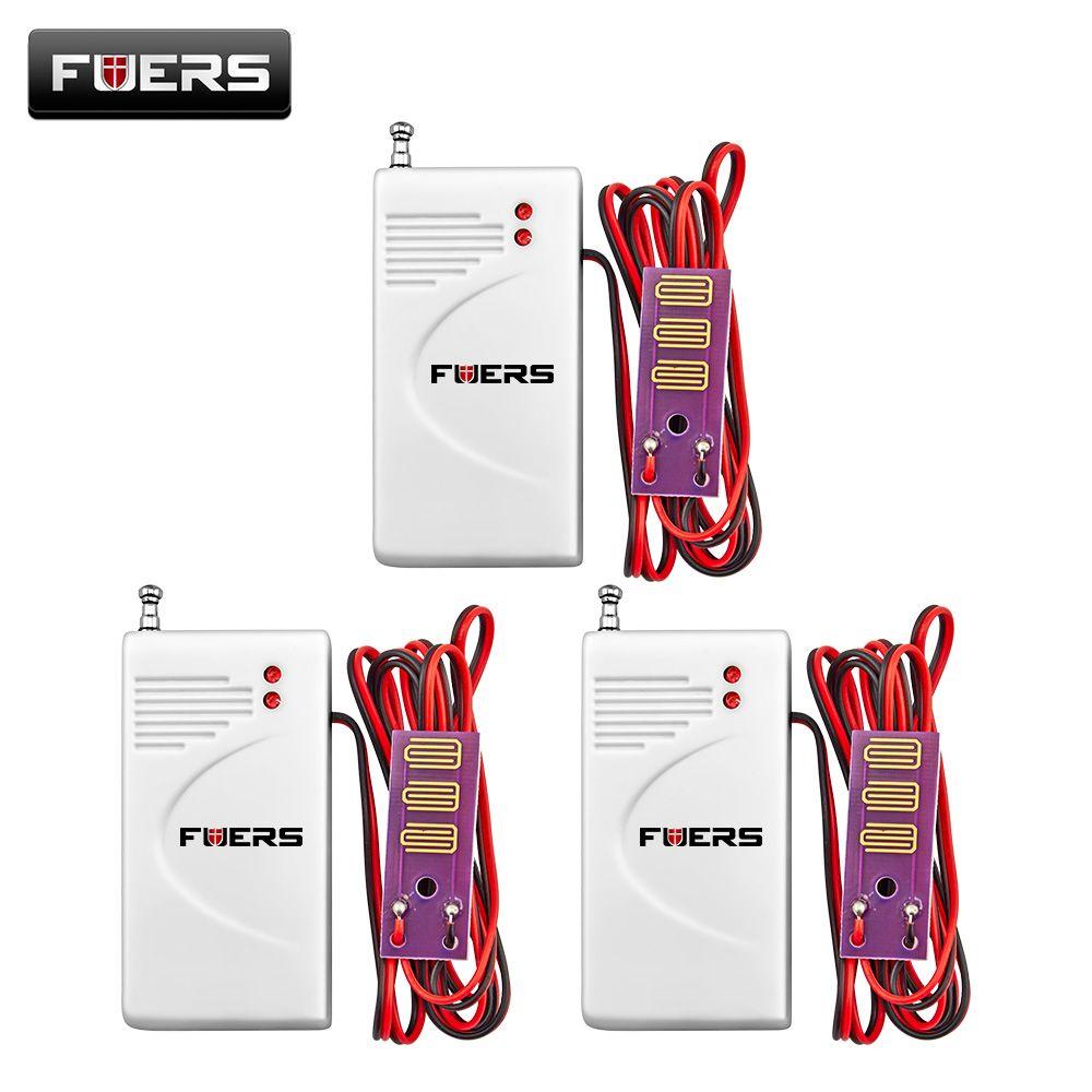 Fuers 3pcs 433MHz Wireless Water leakage Detector GSM PSTN Home Security Voice Burglar Smart Alarm Water Sensor