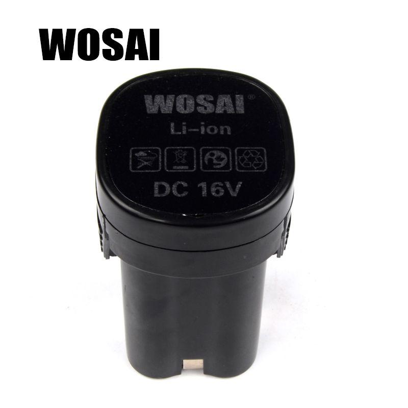 WOSAI 16 V Perceuse sans fil Batterie Au Lithium Batterie De Remplacement Applicables Forage Modèle WS-3015
