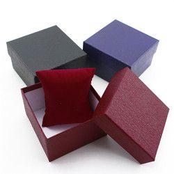 3 cores de Jóias de Couro Caixa de Relógio De luxo Relógios de Pulso Titular de Exibição Caixa De Armazenamento Organizer Caso Presente