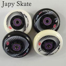 4 Pcs 100% Asli Hyper + G Beton Inline Skate Roda 80 Mm 84A dengan ILQ-11 Brearings Roller Skating Ban untuk Seba Patines