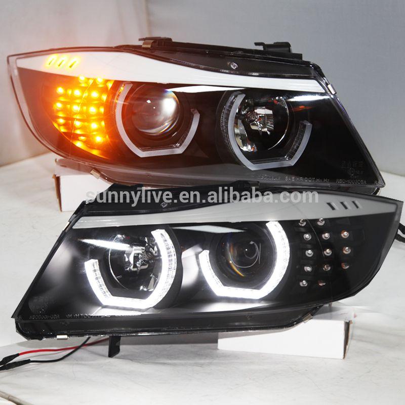 Für BMW E90 kopf Lampe CCFL Angel Eyes 2006-2008 jahr JY