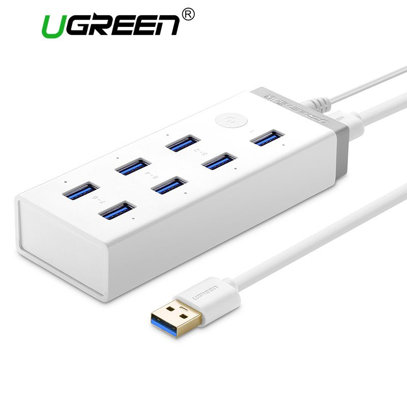 Ugreen USB 3.0 HUB 7 Port Super Speed USB Splitter with 12V 4A Power Charging Adapter for Macbook Computer Hubs Usb 3.0