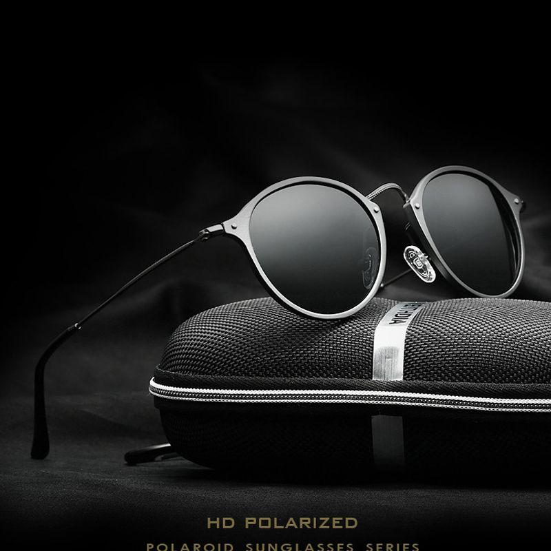 VEITHDIA Marque De Mode Unisexe Lunettes de Soleil Polarisées Revêtement Miroir Conduite lunettes de Soleil Ronde Mâle Lunettes Pour Hommes/Femmes 6358