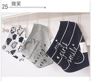 3 pc/lot 100% coton bébé garçons et filles bavoirs bébé serviette bandanas écharpe enfants cravate serviette infantile