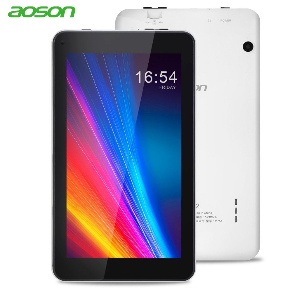 7 inch Tablet PC Aoson M751 8GB 1GB <font><b>1024</b></font>*600 Android 5.1 Quad Core Dual Cameras Bluetooth Wifi Multi languages Tablets Promotion