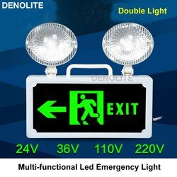 Safety Keluar Evakuasi Indikasi LED Darurat Kebakaran Lampu Multi-Fungsi Dua Kepala 3 W LED Emergency Lamp AC24 /36/48/110/220 V