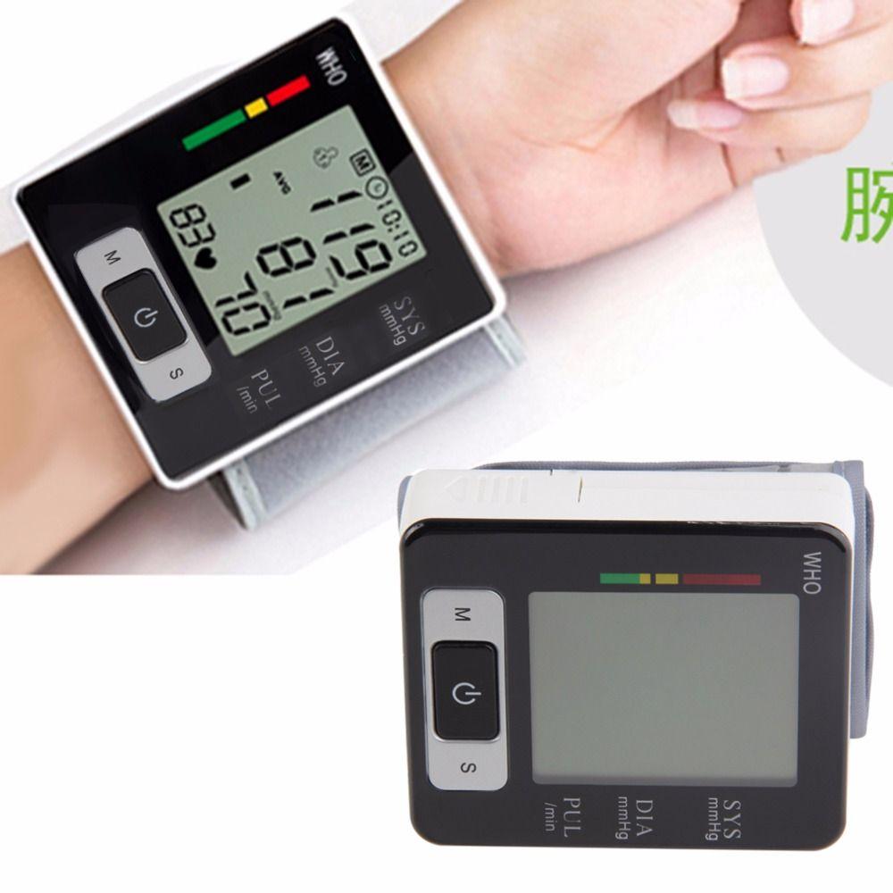 Новая автоматическая Запястья Приборы для измерения артериального давления верх Мониторы цифровой Heart Beat Meter ЖК-дисплей Экран тонометр Сфи...