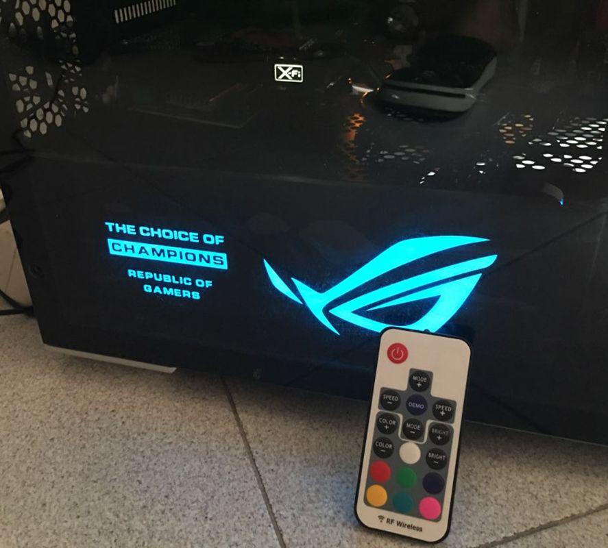 Bricolage carte graphique plaque arrière cache éclairage Taille 265x100x7mm 4Pin utilisation pour GTX 1060/1070/1080/ TITAN RX580 RGB/PSU Couverture linceul