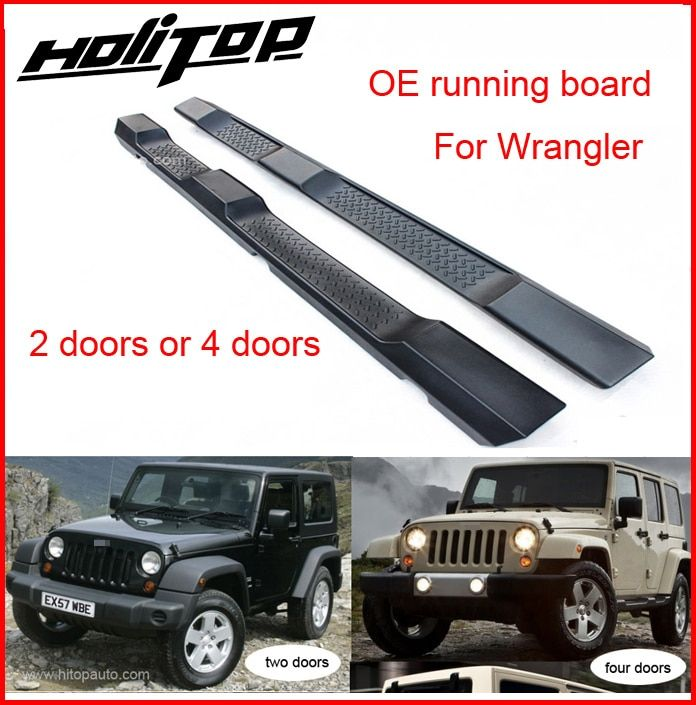 hottest for Jeep Wrangler 2008-2017 foot step running board side step bar,2 doors&4doors,quality guarantee,free shipping to Asia