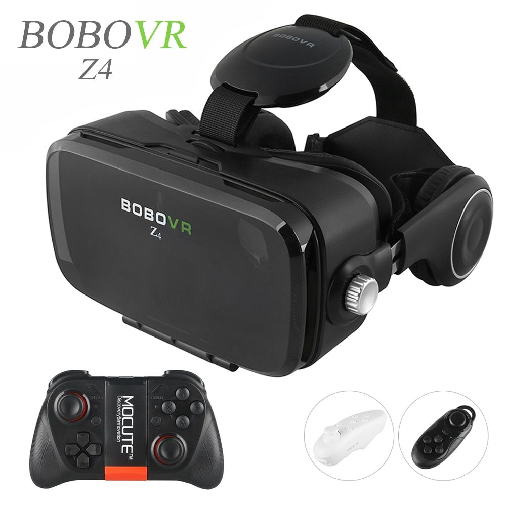 2016 Hot Google Cardboard BOBOVR Z4 VR 360 Degree 3D Viewing Immersive Experience 4.7''-6.2'' Smartphone Virtual Reality Glasses