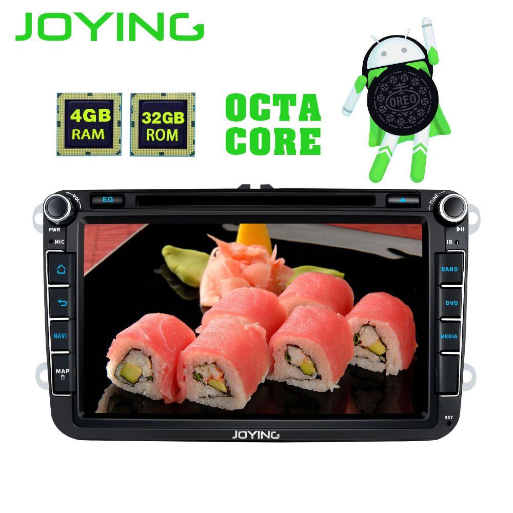 JOYING Android 8 Core Car DVD HD Player Radio 4GB RAM GPS Stereo for VW Volkswagen SKODA GOLF 5/6 POLO PASSAT B5 B6 JETTA TIGUAN