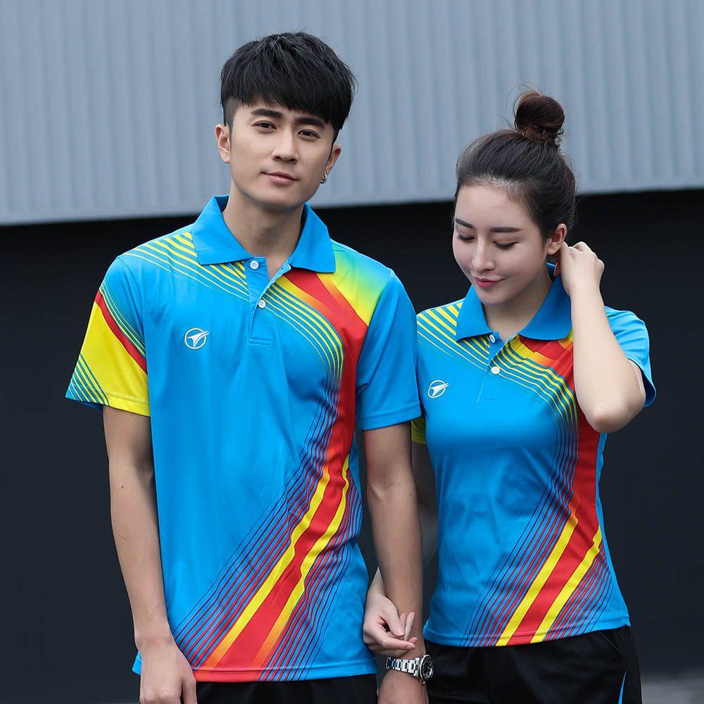 Benutzerdefinierte tischtennis t-shirt Männer/frauen, sport badminton t-shirt, Tennis sport t-shirt, Badminton hemd, AY001