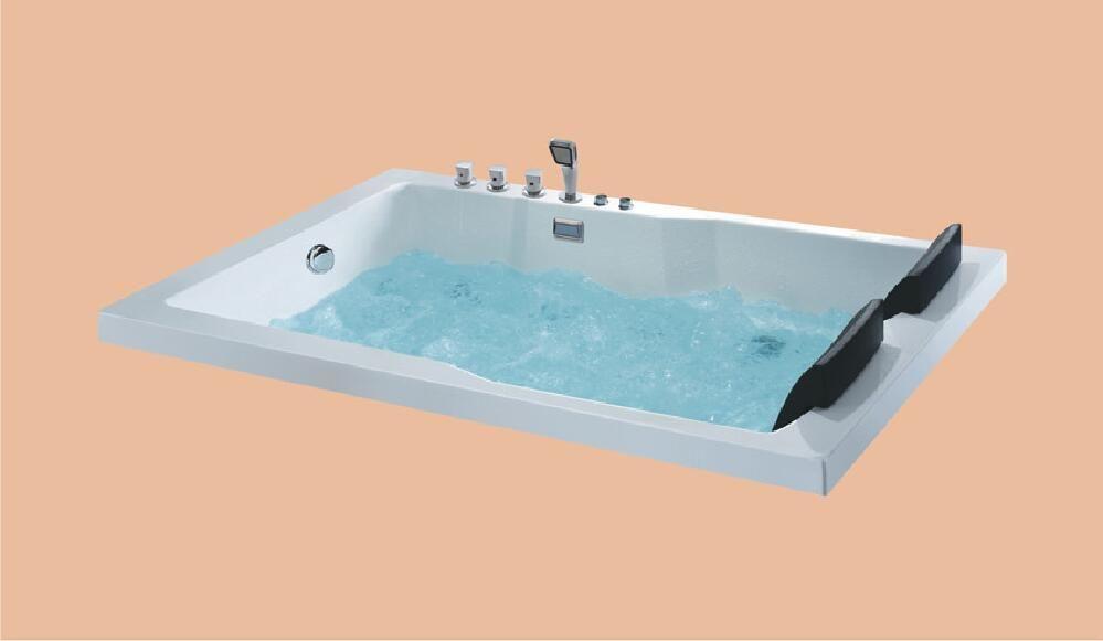 1800mm Fiberglas Drop-in whirlpool Badewanne Acryl Hydromassage Eingebettet Surfen Badewanne NS6015