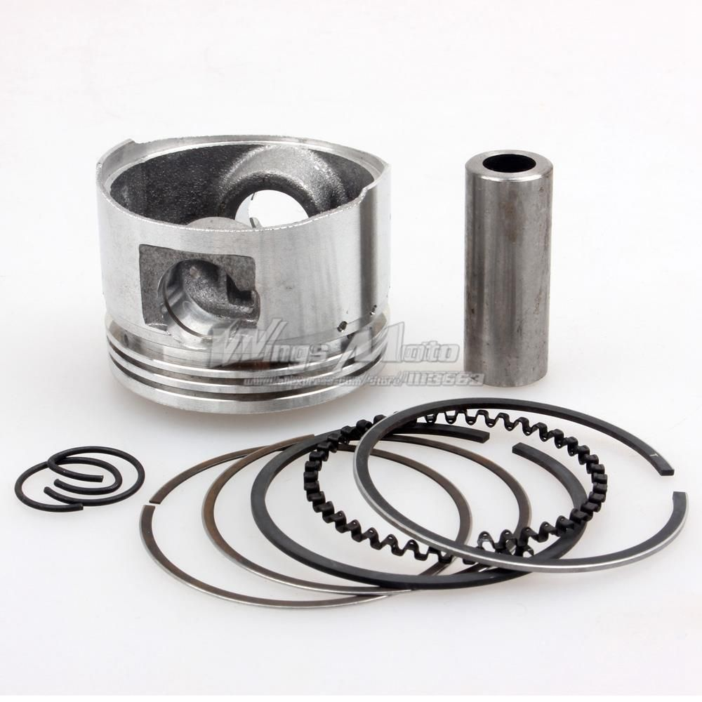GY6 60cc Piston Kit 44mm Big Bore Piston Rings Pin Set Moped Scooter 139QMB