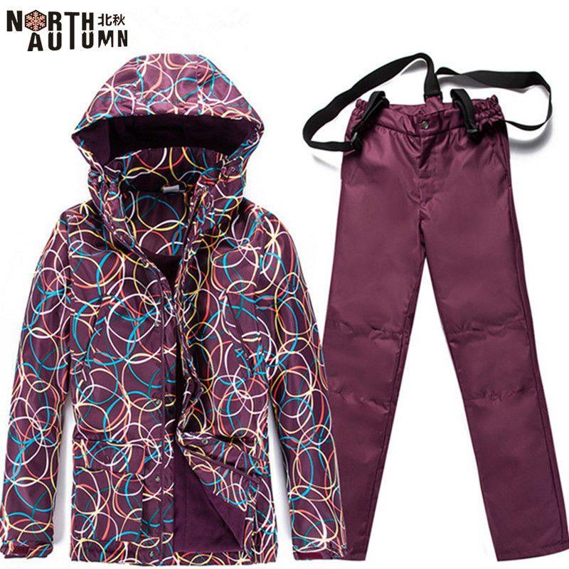 Günstige Ski Anzüge Für Frauen Skifahren Jacke Fleece Warme Winter frauen Snowboard Sets Wasserdichte Sport Anzug Für Frauen Skifahren hose
