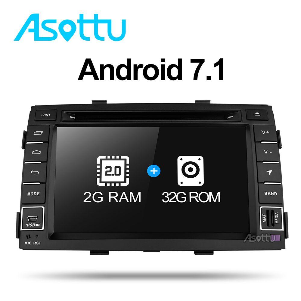 2G + 32G Android 7.1 quad core für kia Sorento 2009 2010 2011 2012 auto dvd gps navigation headunit autoradio video player