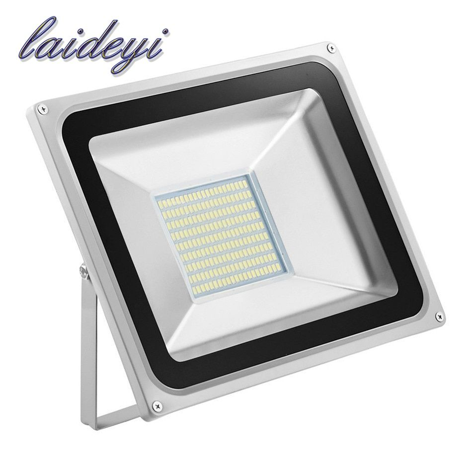 10pcs Flood light outdoor lights 100W 220V 5600LM 189LED SMD 5730 Floodlights For street Square Spotlight Outdoor Wall Lamp