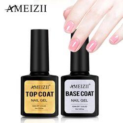 AMEIZII Топ Base Coat УФ лака для ногтей гель прозрачный Soak Off длительный грунтовка Nail Art Гель лак для маникюра Лаки