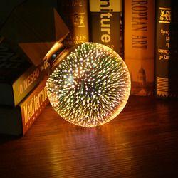 3D звезды эффект фейерверка ночник светодиодный светильник E27 AC85V-265V светодиодная лампочка эдисона A60 ST64 G80 G95 G125 освещение для домашнего деко...