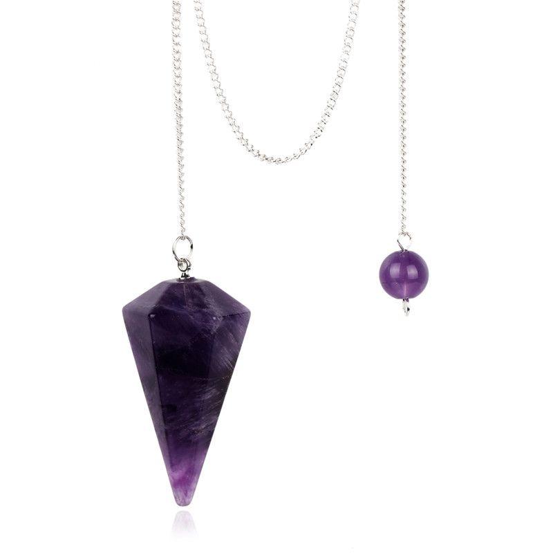 Naturel Pierre En Cristal Clair Pendule Noir obsidienne Rose quartz 12 Facette Chakra Guérison Reiki Perle Terminé Livraison Poche