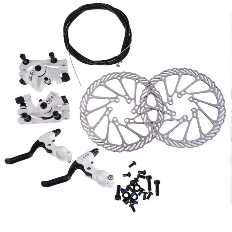 Cycling Bicycle Disc Brakes Set Kit G3 Rotors 160mm Brake Levers Cable(option) Ultra-light Aluminum Single Adjustable Disc Brake