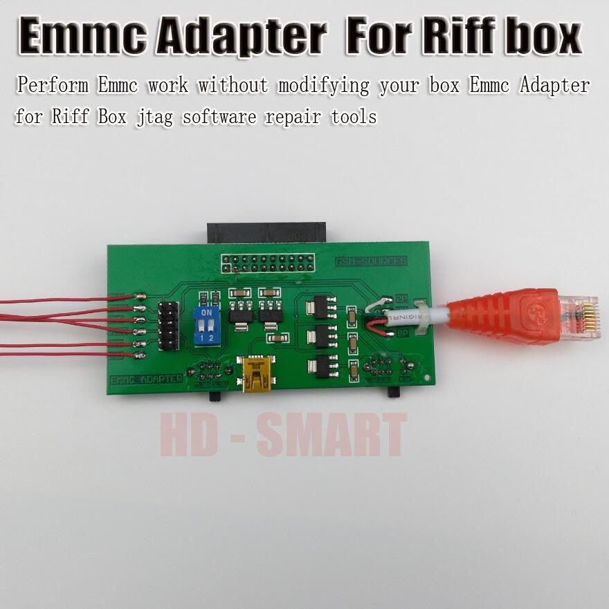 2017 new Perform eMMC work without modifying your box EMMC Adapter for Riff BOX jtag software repair tools