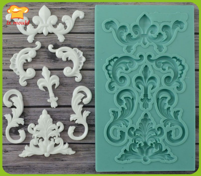 LXYY new mold Best Quality Silicone Mold Set monograms Crafts Decorating Fondant
