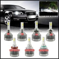 Pair Car LED Headlights H7 H8 H11 HB3/9005 9006 H1 H3 H4 H10 5202 9007 9004 H13 880 881 Auto Front Bulb 60W Automobiles Headlamp