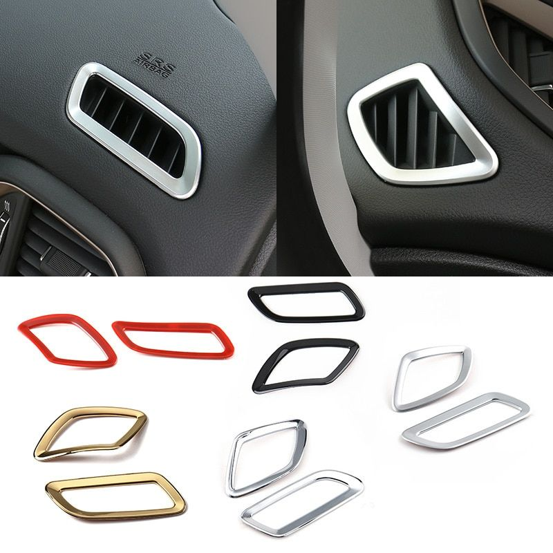 MOPAI New Arrival 2PCS ABS Dashboard Air Vent Bezel Cover Trim Decoration for Renegade 2015-2016