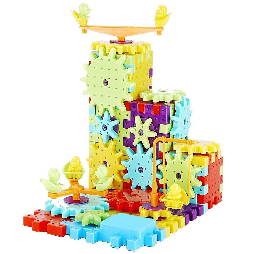 81 pièces enfants Blocs De Construction En Plastique Jouets Enfants bricolage Jouet Éducatif Créatif Blocs Jouets Kit De Maquette