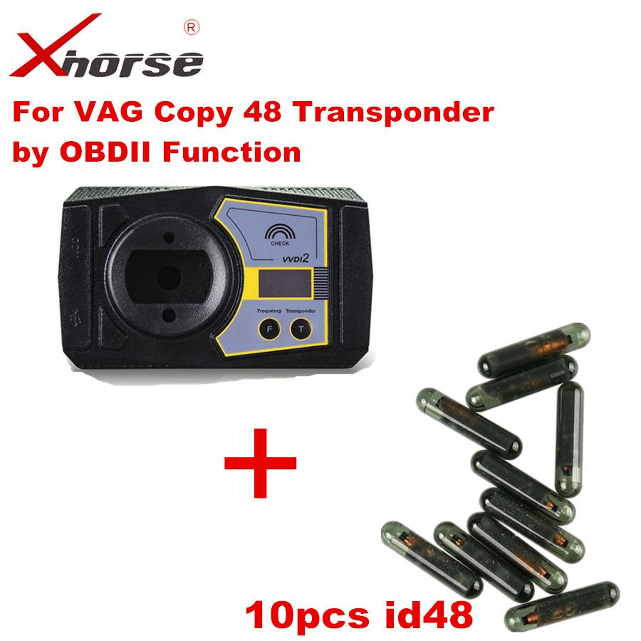 (VV-03) For VAG Copy 48 Transponder by OBDII Function Authorization Service For VVDI2 With 10pcs ID48 chip