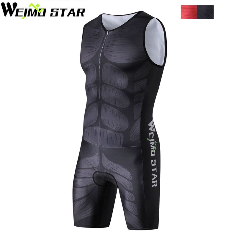 WEIMOSTAR Outdoor Men One Piece Compressed Ciclismo Cycling Jersey Professional Breathable Triathlon Clothes Swimsuit Sportswear