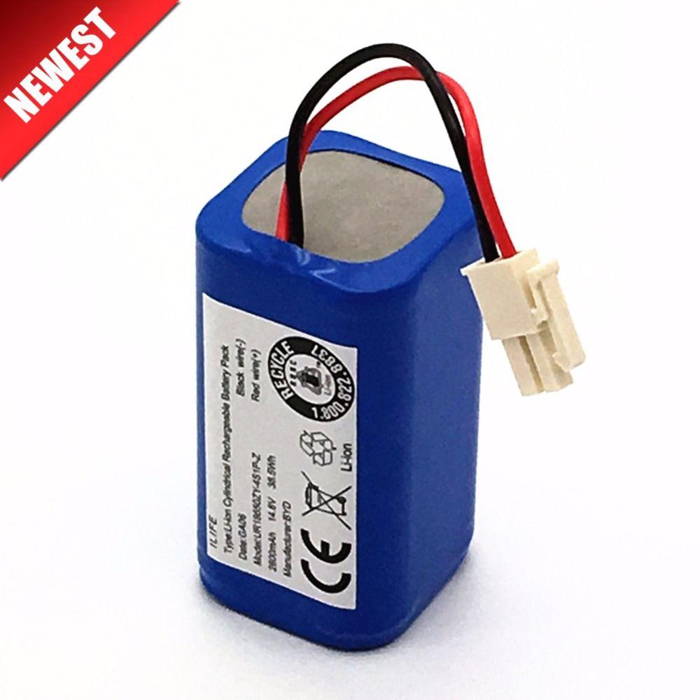 Qualité supérieure Rechargeable ILIFE ecovacs Batterie 14.8 V 2800 mAh robotique aspirateur accessoires pièces pour Chuwi ilife A4 A4s A6