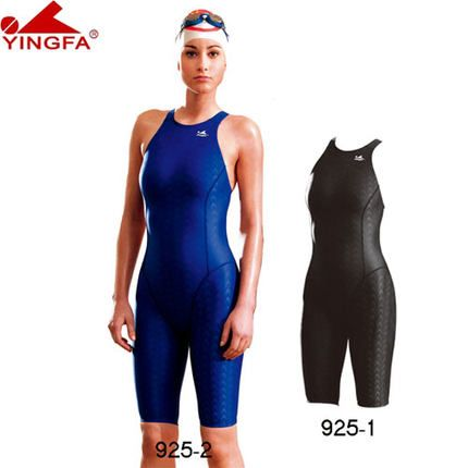 Yingfa FINA approuvé une pièce compétition maillots de bain sharkskin course maillot de bain compétition de natation pour les femmes grande taille XS-XXXL