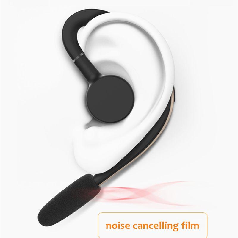 Mains libres Sans Fil Bluetooth Headset Affaires Écouteurs Antibruit Sport Bluetooth Casque avec Micro contrôle Vocal Pilote
