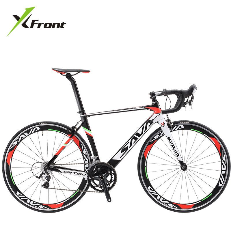 Original X-Front marke volle carbon faser rennrad 18 20 22 geschwindigkeit 700cc * 23C racing bicicleta licht schwarz weiß fahrrad