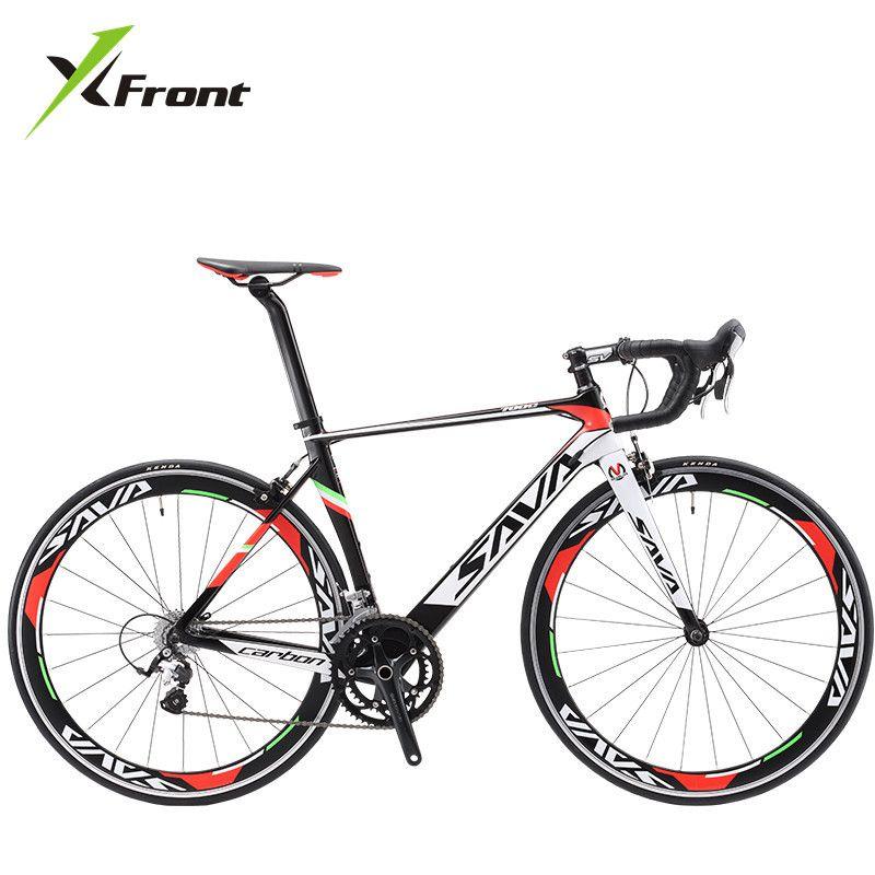 Vélo de route Original en fiber de carbone de marque x-front 18 20 22 vitesses 700cc * 23C racing bicicleta vélo blanc noir clair
