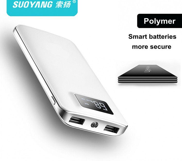 Hot 20000mah Power Bank External Battery PoverBank 2 USB LCD Powerbank Portable Mobile phone Charger for Xiaomi MI 18650
