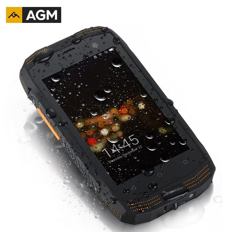 AGM A2 IP68 Shockproof Smartphone 4'' 2GB RAM+16GB ROM NFC OTG Android 5.1 Quad Core 8.0MP 1280*720 2600mAh LTE 4G Cell Phones