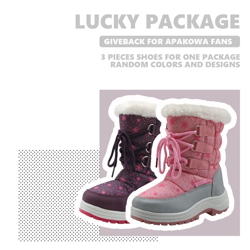 APAKOWA LUCKY PACKAGE 3 PAIRS ITEMS SPRING AUTUMN WINTER BOOTS CASUAL SHOES SNEAKERS RANDOMLY SENT FOR ONE PACKAGE EU SIZE 22-33
