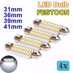 Flytop 4 stücke GIRLANDE 31mm 36mm 39mm 42mm Led-lampe C5W C10W CANBUS Kein Fehler DC 12 v Weiß Farbe 4014 SMD Auto Dome Licht Auto Lampe