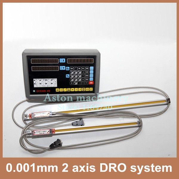 Hohe Präzision komplette set 1um miil drehmaschine 2 achsen DRO system und 0,001mm längenmessskala
