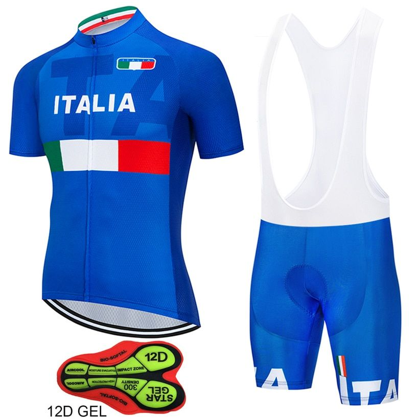 Tour de Italy 12D GEL Cycling Jersey Short Jersey Ropa De Ciclismo Maillot ITALIA Cycling Clothes Cycling Bicycle Clothes