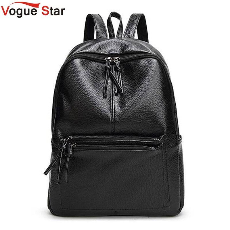 Vogue Star 2018 New Travel Backpack Korean Women Backpack Leisure Student Schoolbag Soft PU Leather Women Bag LB64