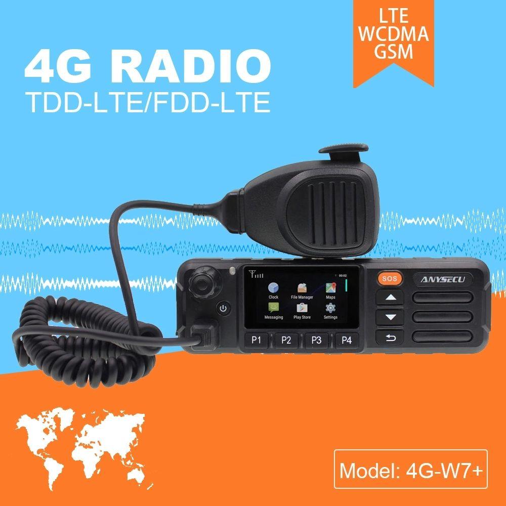 ZELLO ECHT PTT Android Walkie Talkie LTE BAND 4G Mobile Radio 4G-W7 Plus PTT Net Arbeit Radio EU Version