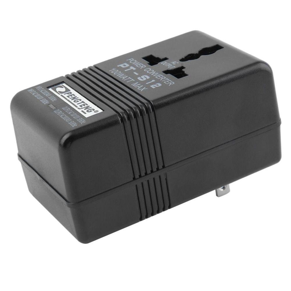 2 режима 100 Вт Max Мощность конвертер адаптер 110 В/120 В до 220 В/240 В двойной напряжение converter Professional трансформатор 2017 Новый
