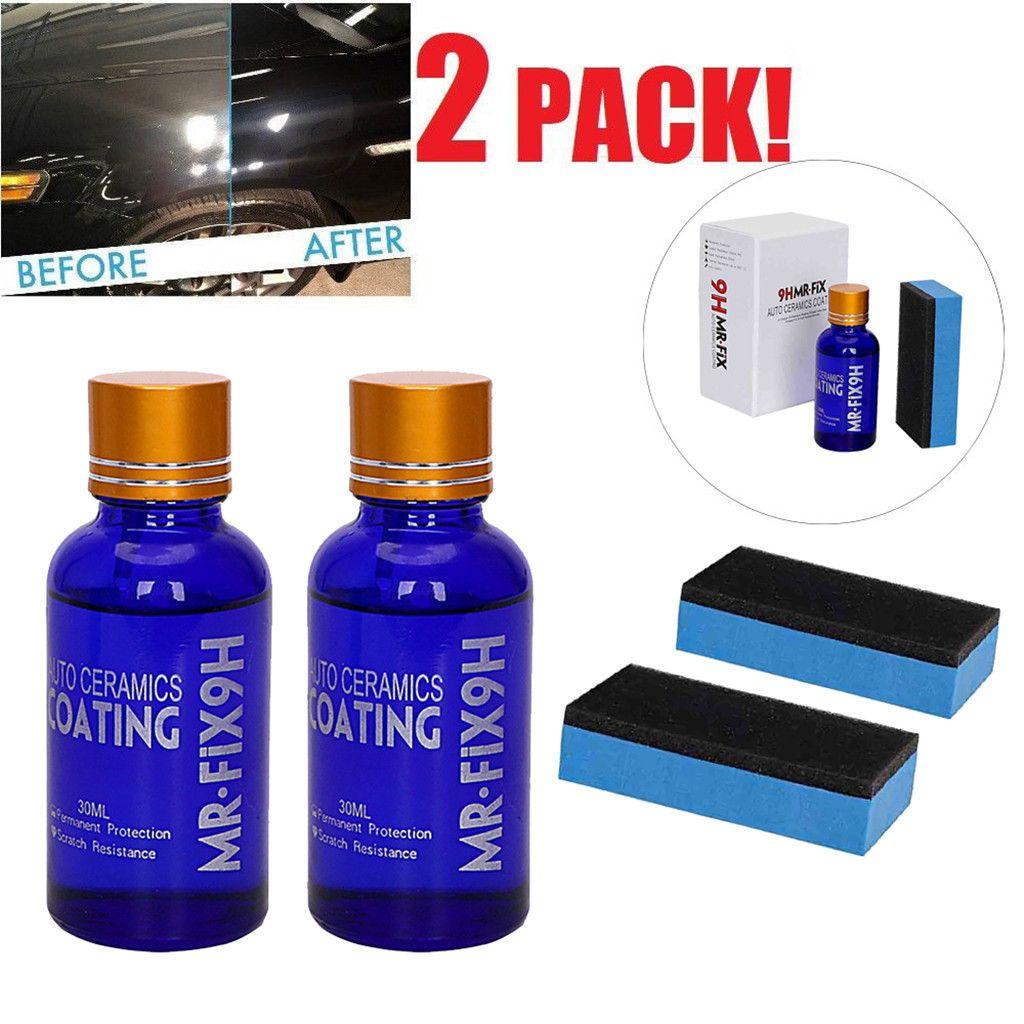 Car Repair Agent 2PCS 30ML 9H Car Oxidation Liquid Ceramic Coat Super Hydrophobic Glass Coating Set dropship  d27
