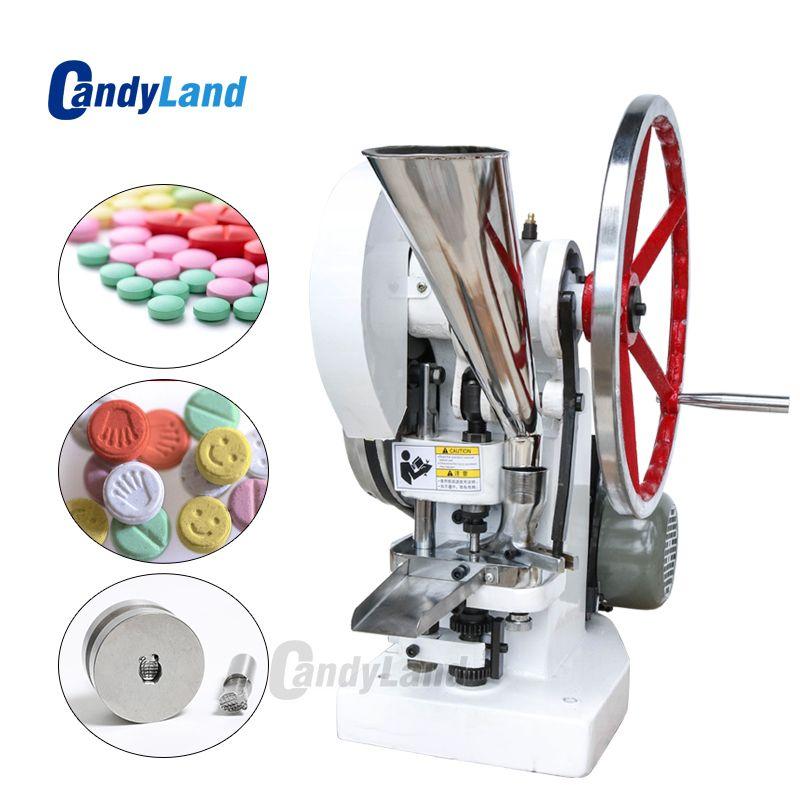 CandyLand Tablet Presse Maschine TDP5 typ Druck Stanzen Härter Candy Zucker Milch Maker Einzelnen Pille Punch Tablette, Der Maschine