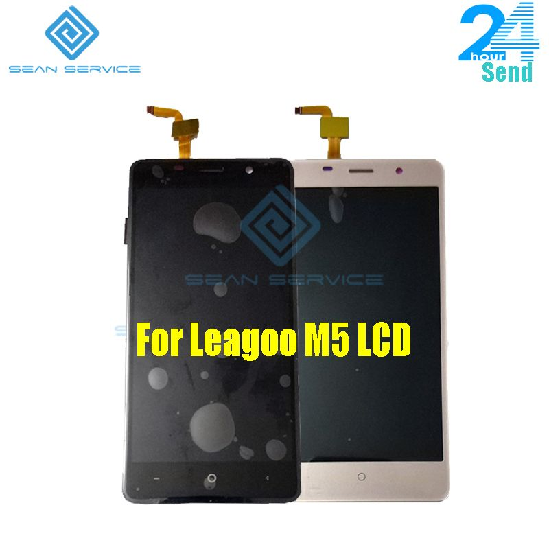 For Leagoo M5 LCD Display Touch Screen Phone Digitizer Assembly Tested 5.0 inch 1280x720P Free shipping Stock
